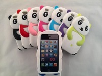 10pcs/lot free shipping New 3D cute panda Silicon Case for iPhone 6 4.7 inch