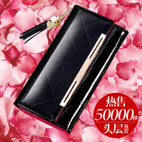 Miss Xia Mo wallet leather wallet 2014 new patent leather women long section of Korean women leather wallet wallet