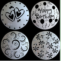 Baking Cooking Cake Tools 4piece/Set Spray Flowers Die Mold Spray/Cake/Printing/Sugar Powder Sieve Cake Decorator 02005