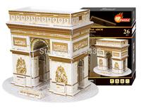 World Famous Building Series-Triumphal Arch DIY 3D puzzle 3D jigsaw educational toy best gift to children 26pcs(26*18cm)