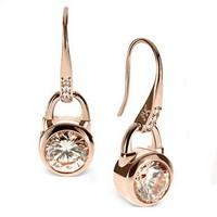 Brincos Top Quality 18K Gold Zircon Hook Dangle Earrings For Ladies Women Costume Jewelry Factory Wholesale