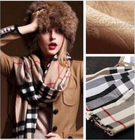 High Quality !! 100% Cashmere Euro Fashion New Style Classic Brand Women Cashmere And Wool Scarf 180*80CM and 145*145CM