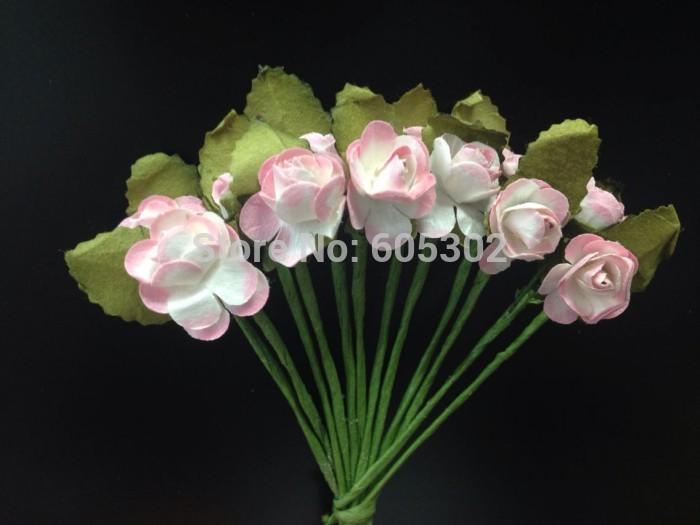 Grátis frete 120 pcs flor de papel Artificial linda rosa folhas de decoração de casamento Bouquet(China (Mainland))