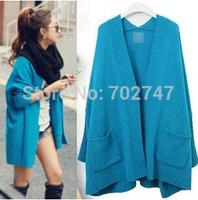 Autumn 2014 new fashion women's large size Korean loose bat sleeve sweater knit cardigan jacket