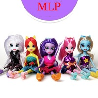 5pcs/BOXED Foreign trade Genuine MLP Equestria Girls 5 protagonists the best birthday gift for children