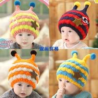 HT-1442  Retail  free shipping baby girls baby boys winter hats  Bee STYLE  baby caps children's winter hats warm earmuff caps
