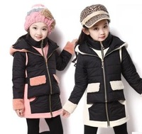 Free shipping/ Han edition 2014 princess cotton coat off two cotton thickening pure color coat