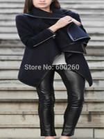 New 2014 Women Coat autumn Winter Woolen Long Sleeve Overcoat Fashion Trench Desigual Woolen Coat Casacos Femininos S-XXL