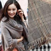 2014 Brand Fashion Design Women Plaid Scarf Acrylic scarves wholesale Woman Long Shawl Size 200*85CM