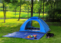 Double single breathable rain proof tent , family leisure tent