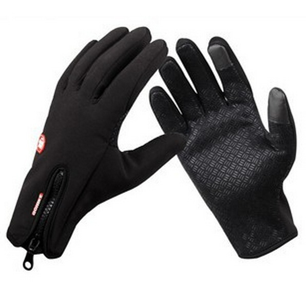 Touch Black Windstopper Soft Warm Simulated Leather Windproof Waterproof Outdoor Gloves M/L/XL,Ski Gloves,Cycling Free shipping(China (Mainland))