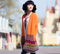 2014 Women's new Autumn coat long-sleeved cardigan Sweater   Outwear