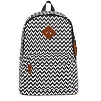 "Fashion linen fabric wave pattern pu leather men's backpacks school bags mochila 15"" laptop bag"