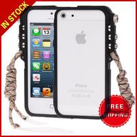 4th Design Trigger Aluminum Metallic Bumper Cases Cover for iPhone 5 & 5S