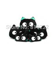 5pcs/Set Cute Cat Car Pillows  Car Cushions Waist Pillow s Headrest pillows for Car  noctilucent geen light eye for Halloween