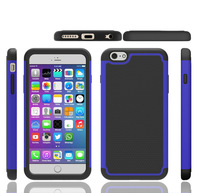 Slim Hard Shell Holster Commander Combo Rugged Cover Dual Layer PC+ Silicone Hybird Case For iPhone 6 4.7 inch