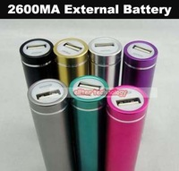 Wholesale 2600mah Power Bank External Battery Pack Powerbank Portable Charger 200PCS/lot