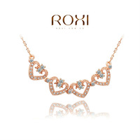 2014 ROXI brands  fashion  necklace/Chrismas gifts, Austrian crystal,fashion Environmental  women link heart Jewelry