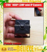 Mini IP Camera 960P ONVIF Securiy HD Network CCTV Camera indoor Network IPCamera ,Pinhole Camera ONVIF H.264 Free Shipping