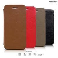 """HOCO Premium Collection Series Lychee Lines Genuine Leather Folder Leather Case for Apple iPhone 6 4.7""""+Retail + FreeShipping"""