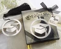 2014 best graduation cap bookmark with Elegant black tassel graduate party gifts guest souvenirs keepsakes 100pcs