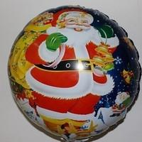 New hot foil balloon cartoon Santa Claus toy balloon 18 inches wholesale party