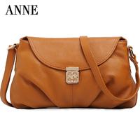 ANNE new wave of female fashion retro leather handbag shoulder messenger bag trend specials cowhide packet