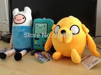 Movice cartoon Toy Anime Adventure TimeS Finn Jake 11 inch Beemo BMO 8 inch soft figure plush doll 3PC /SET MTY019