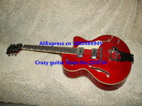 Wholesale - Top Musical instruments red Electric Guitar Jazz guitar  Hollow body guitar Musical instruments HOT