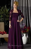 Beaded Lace Jacket Long Chiffon Evening Dress Vestidos de Noite Custom Made XS S M L XL 2XL 3XL 4XL