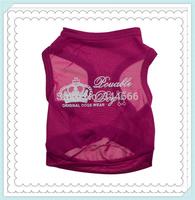 Brand new cotton single jacket vest print crown clothes for dogs,dog clothes,pet clothes,dog dress,dog shirt wholesale