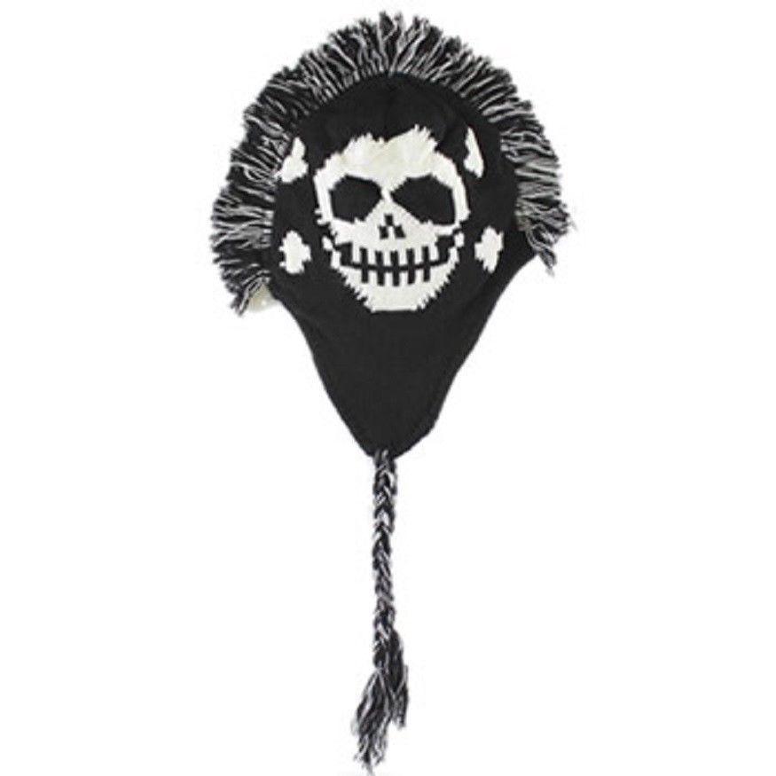 Skull Hats Wholesale Mohawk Skull Logo Hat Cap