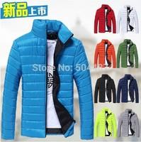 Fashion Style Man's Mandarin Collar Slim Thick Warm Jackets Free Shipping 2014 New Winter M,L,XL,XXL,XXXL 21216