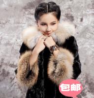 2014 new winter quality imitation fur Haining fringe sexy ladies special wholesale noble fur coat