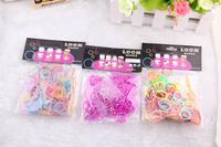 Colorful Rubber Band Loom Bands Children Fun DIY Bracelet Opp Bag Package 200pc+12pcs Clip+Hook Set