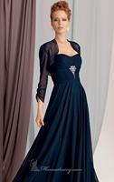 Navy Blue Chiffon Long Chiffon Evening Dress Vestidos de Noite with Bolero Custom Made XS S M L XL 2XL 3XL 4XL