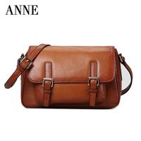 First layer of leather handbags leather multifunction College Wind messenger bag shoulder bag Messenger packet