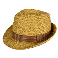 2014 Women'sTrilby Men Cap Sun Hat Hemp Tea Party Hat  Christmas Gift fedora hat 57cm 59cm 2 Sizes Trilby Girl 100% Raffia