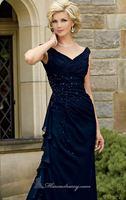 Navy Blue Beaded Scalloped Long Chiffon Evening Dress Vestidos de Noite with Bolero Custom Made XS S M L XL 2XL 3XL 4XL