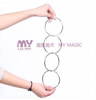 Four serial China tetracyclic ring magic props magic magical four comic magic toys free shipping