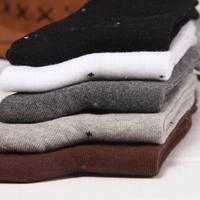 2014 Winter New Men's Brand Casual Cotton Socks Man Sport Socks Dot Dress Sock Free Shipping 10pairs /lot