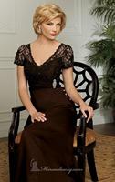 Chocolate Brown Lace Long Chiffon Evening Dress Vestidos de Noite with Bolero Custom Made XS S M L XL 2XL 3XL 4XL