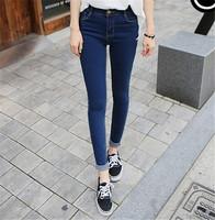 Drop Shipping 2014 New Fashion Women High Waist Jeans Skinny pants Slim Denim Trousers Plus Size Vintage Women Jeans