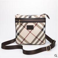 2014 new fashion paid women messenger bag check women cross body bag designer handbags high quality women leather shoulder bags