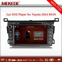 Multilingual Toyota RAV4 2014 Car DVD Headunit With GPS Navigation Bluetooth TV Ipod Radio Player 3G USB host Free map