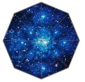 Good Quality Cheap Portable Fashion Foldable Universe Beautiful Lighting Star Moon Dot Galaxy wonder Umbrella(China (Mainland))