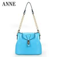 2014 new wave of European and American leather handbags Jurchen small bucket bag shoulder bag Messenger bag woman