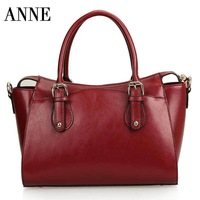 2014 Winter new Korean leather handbags oil wax leather shoulder bag Messenger bag lady complex in Europe and America