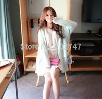 2014 Dongguk door version of the new Korean long section of loose sweater cardigan sweater coat