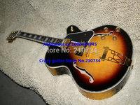Wholesale -Newest Sunburst Electric Guitar Hollow body L-5 Electric Guitar black pickguard free shipping Guitar factory